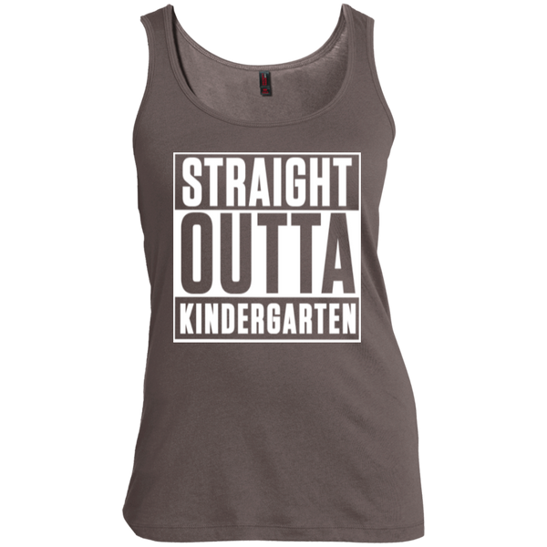 Straight Outta Kindergarten   Scoop Neck Tank Top - TeachersLoungeShop - 2