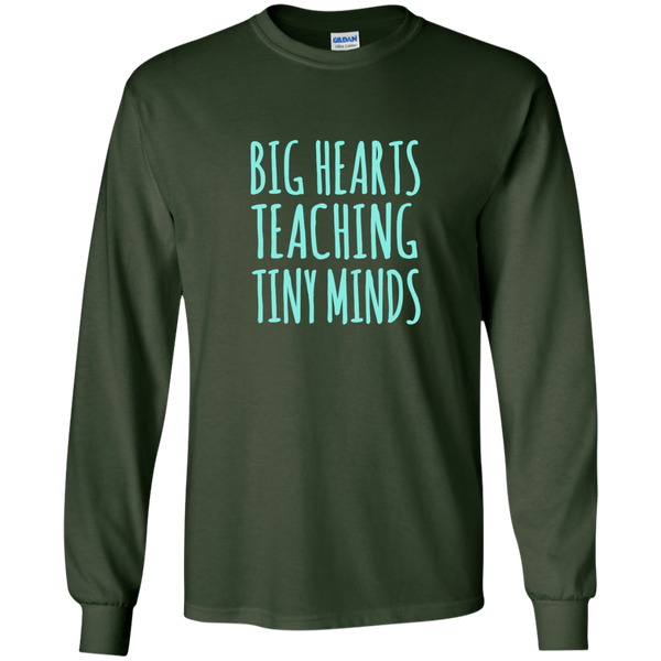 Big Hearts Teaching Tiny Minds LS Ultra Cotton Tshirt - TeachersLoungeShop - 3