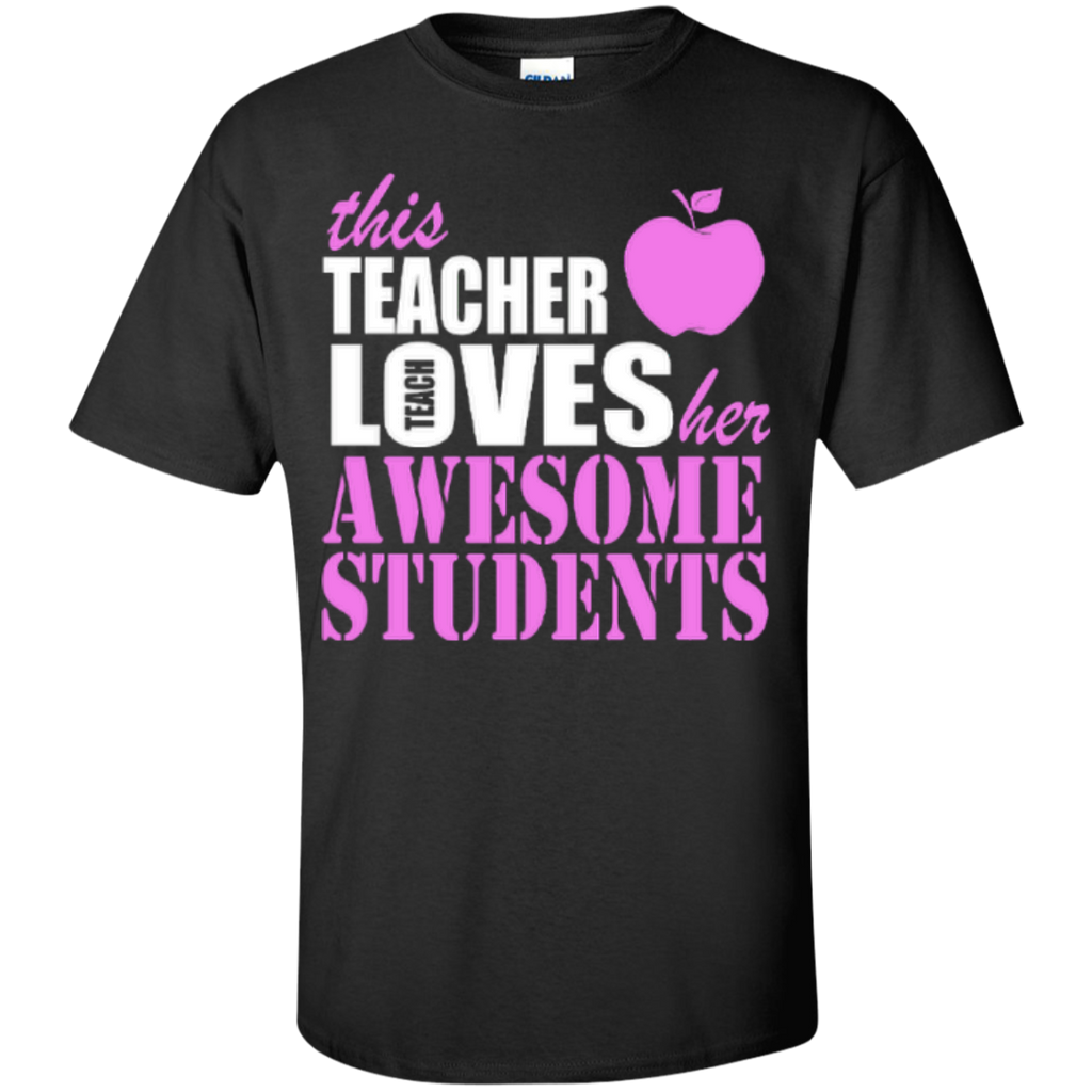 This Teacher Loves her Awesome Students T-shirt Hoodies - TeachersLoungeShop - 1