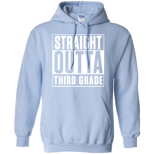 Straight Outta Third Grade  Hoodie 8 oz - TeachersLoungeShop - 8