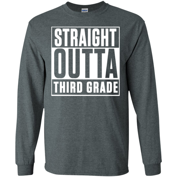 Straight Outta Third Grade LS Cotton Tshirt - TeachersLoungeShop - 10