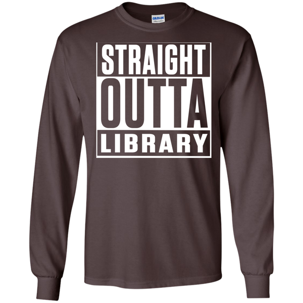 Straight Outta Library  LS Ultra Cotton Tshirt - TeachersLoungeShop - 2