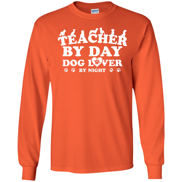 Teacher By Day Dog Lover by Night LS Ultra Cotton Tshirt - TeachersLoungeShop - 2