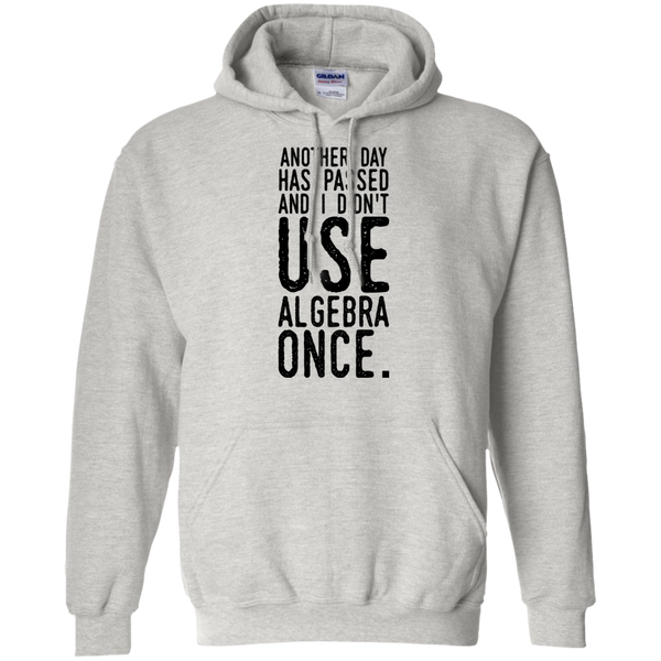Another day has passed and I didn't use algebra once Hoodie