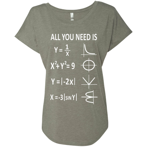 All You Need is Love Next Level Ladies Triblend Dolman Sleeve - TeachersLoungeShop - 3