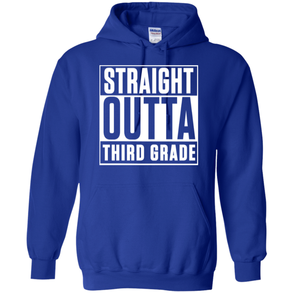 Straight Outta Third Grade  Hoodie 8 oz - TeachersLoungeShop - 11