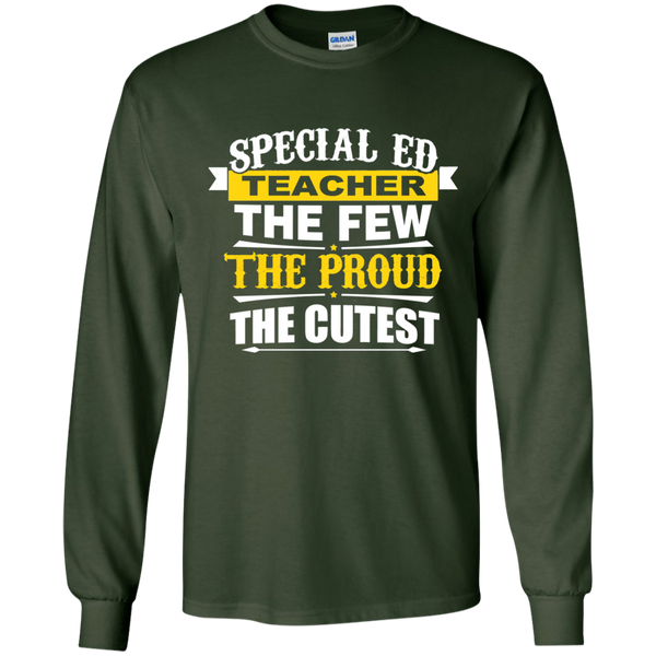 Special Ed Teacher The Few The Proud The Cutest LS Ultra Cotton Tshirt - TeachersLoungeShop - 2