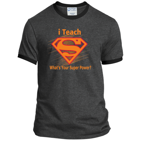 i Teach What's Your Superpower Ringer Tee - TeachersLoungeShop - 6