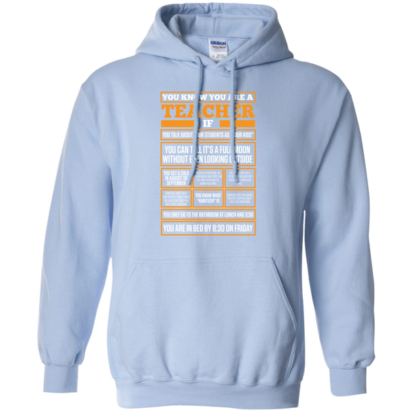 You know You are a Teacher if  Hoodie 8 oz - TeachersLoungeShop - 6