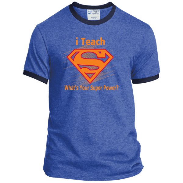 i Teach What's Your Superpower Ringer Tee - TeachersLoungeShop - 8
