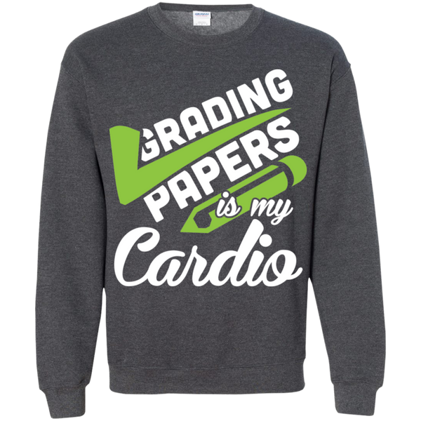 Grading papers is my cardio   Crewneck Pullover Sweatshirt  8 oz - TeachersLoungeShop - 9