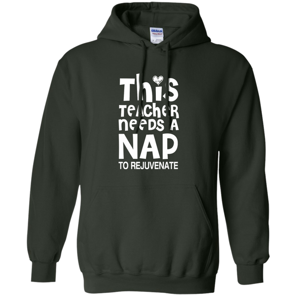 This Teacher Needs a Nap to Rejuvenate Pullover Hoodie 8 oz - TeachersLoungeShop - 6