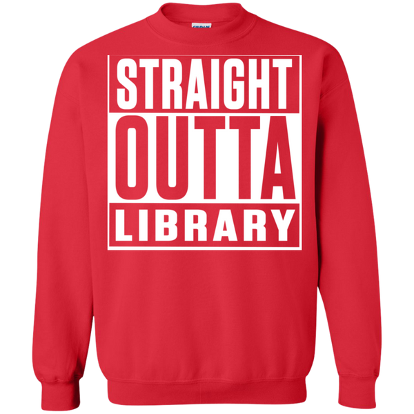 Straight Outta Library Pullover Sweatshirt  8 oz - TeachersLoungeShop - 4