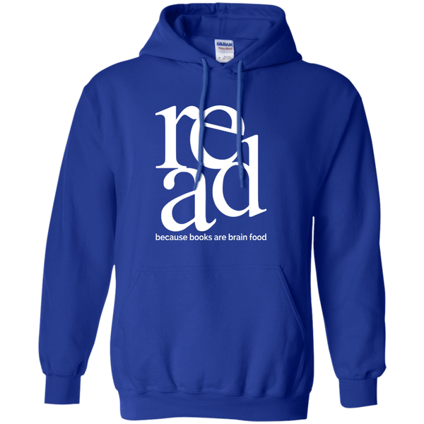 Read Because Books Are Brain Food Pullover Hoodie 8 oz - TeachersLoungeShop - 9