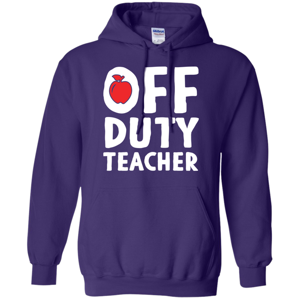 Off Duty Teacher Hoodie 8 oz - TeachersLoungeShop - 11