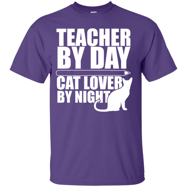 Teacher by Day Cat Lover by Night  T-Shirt - TeachersLoungeShop - 6