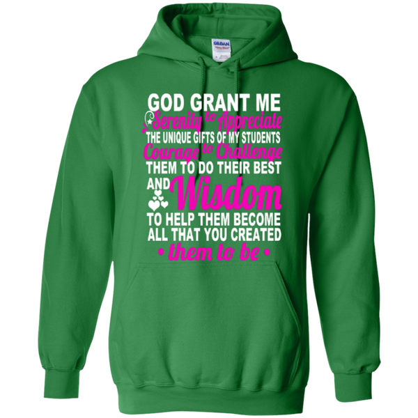 Teacher's Prayer God Grant Me Teacher T-shirt Hoodie - TeachersLoungeShop - 8