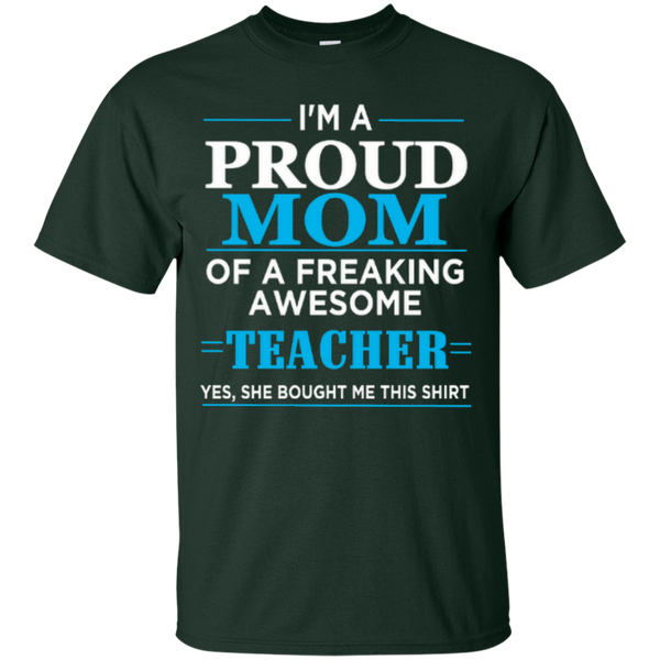 Proud Mom of a freaking awesome Teacher T-shirt Hoodie - TeachersLoungeShop - 6
