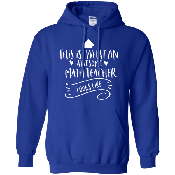 Awesome Math Teacher Pullover Hoodie 8 oz.