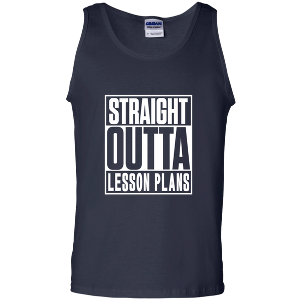 Straight Outta Lesson Plans 100% Cotton Tank Top - TeachersLoungeShop - 2