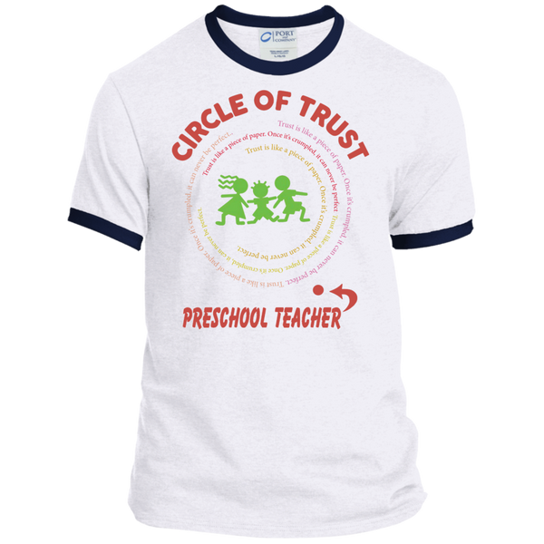 Preschool Teacher Circle of Trust Ringer Tee - TeachersLoungeShop - 2