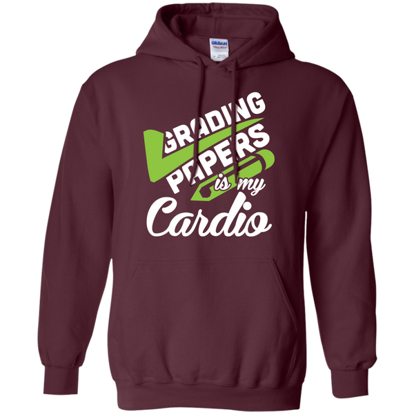 Grading papers is my cardio   Hoodie 8 oz - TeachersLoungeShop - 7