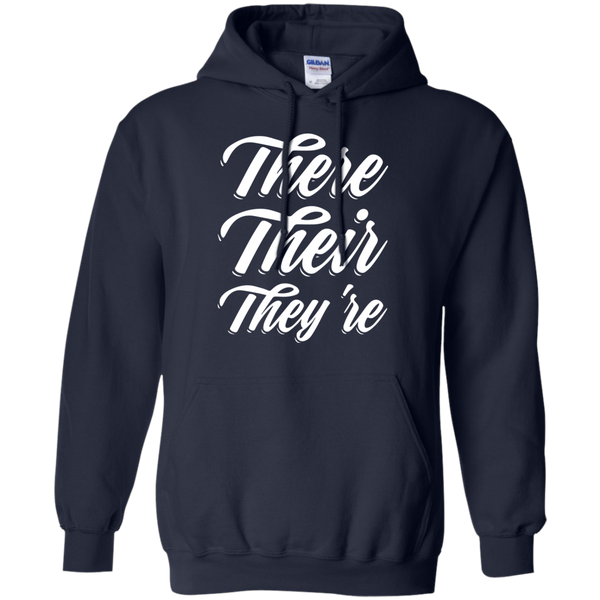 There Their They're Hoodie 8 oz - TeachersLoungeShop - 2