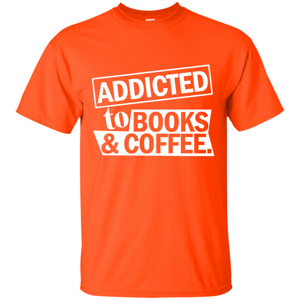 Addicted to Books and Coffee Cotton T-Shirt - TeachersLoungeShop - 2