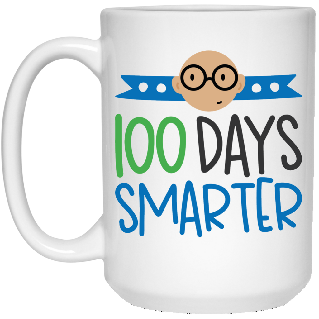 100 Days Smarter  15 oz. White Mug