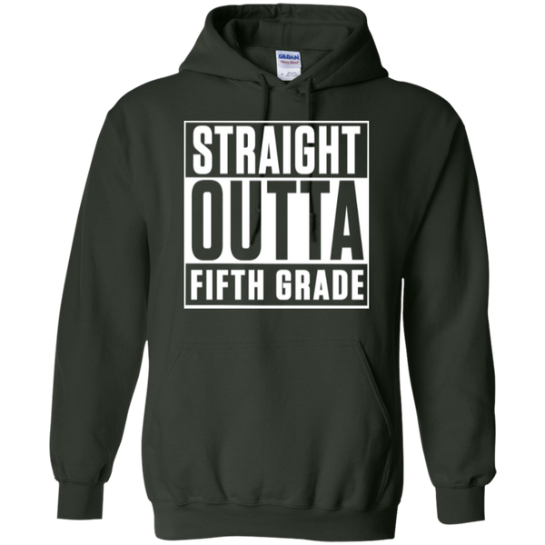 Straight Outta Fifth Grade  Hoodie 8 oz - TeachersLoungeShop - 7
