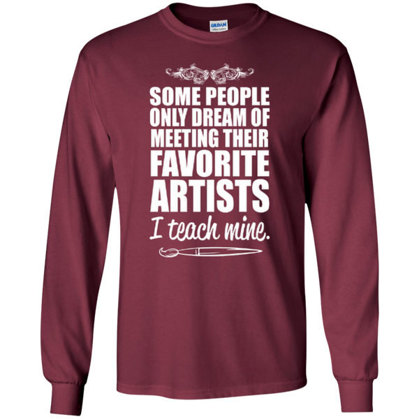 Favourite Artists i Teach Mine LS Tshirt - TeachersLoungeShop - 3