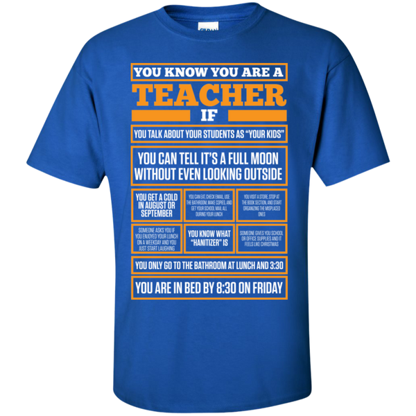 You know You are a Teacher if  T-Shirt - TeachersLoungeShop - 9