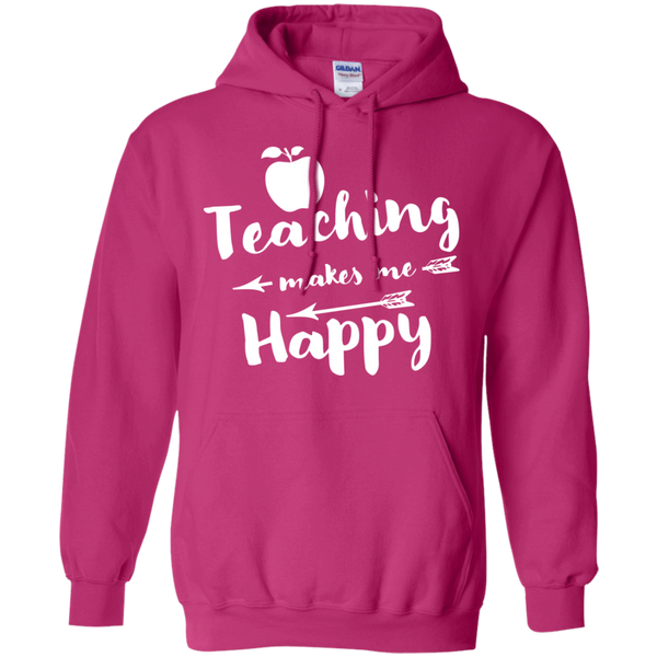 Teaching makes me Happy     Hoodie 8 oz - TeachersLoungeShop - 7