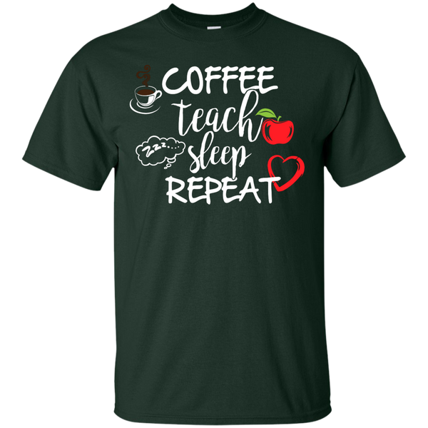 Coffee Teach Sleep Repeat  T-Shirt - TeachersLoungeShop - 2