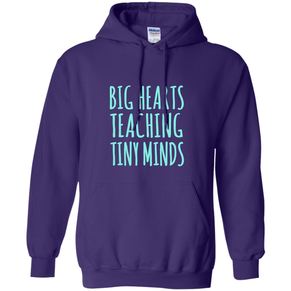 Big Hearts Teaching Tiny Minds Pullover Hoodie 8 oz - TeachersLoungeShop - 10