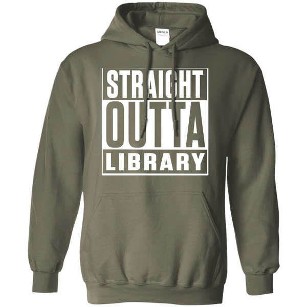 Straight Outta Library  Hoodie 8 oz - TeachersLoungeShop - 7
