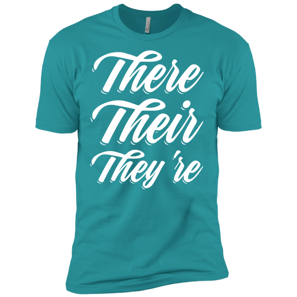 They Their They're  Next Level Premium Short Sleeve Tee - TeachersLoungeShop - 11