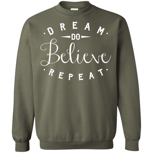 Dream Do Believe Repeat   Crewneck Pullover Sweatshirt  8 oz - TeachersLoungeShop - 9
