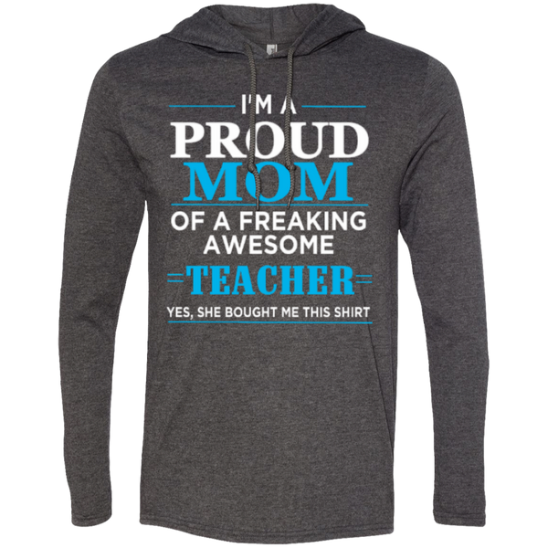 Proud Mom of Freaking awesome Teacher   T-Shirt Hoodie - TeachersLoungeShop - 3