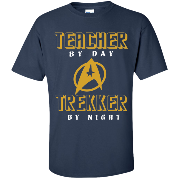 Teacher By Day Trekker By Night Cotton T-Shirt - TeachersLoungeShop - 10