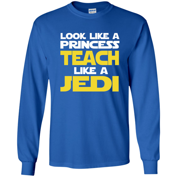 Look Like a Princess Teach Like a Jedi LS Ultra Cotton Tshirt - TeachersLoungeShop - 9