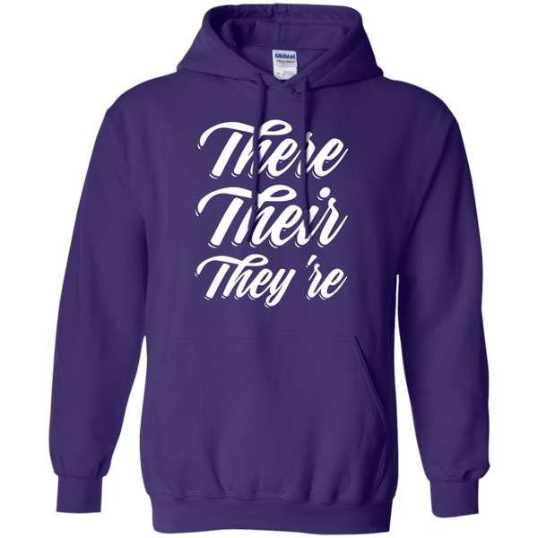 There Their They're Hoodie 8 oz - TeachersLoungeShop - 10