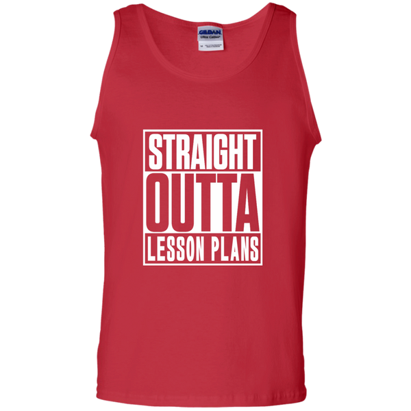 Straight Outta Lesson Plans 100% Cotton Tank Top - TeachersLoungeShop - 3