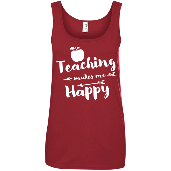 Ladies' 100% Ringspun Cotton Tank Top - TeachersLoungeShop - 4
