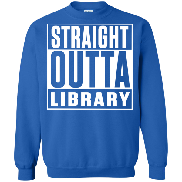 Straight Outta Library Pullover Sweatshirt  8 oz - TeachersLoungeShop - 6