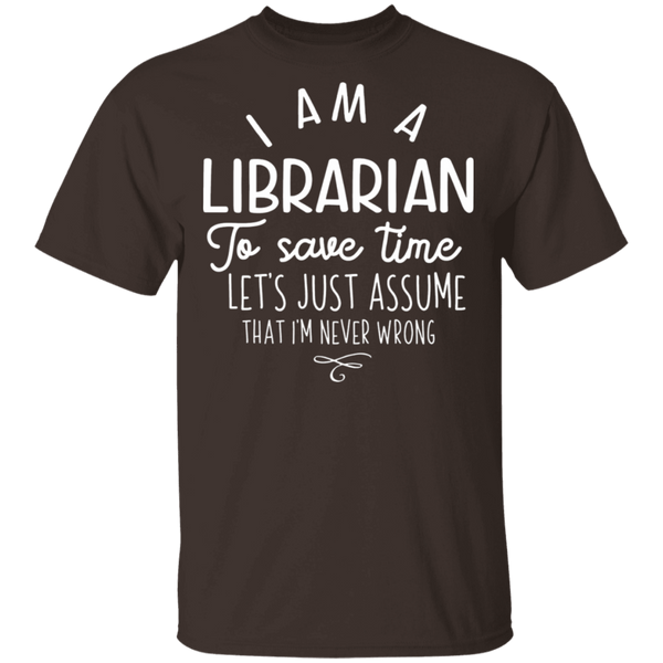 Librarian save time T-Shirt