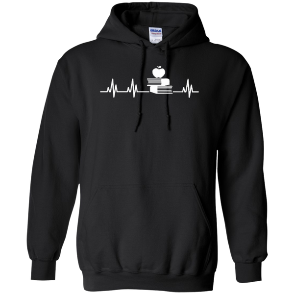 Teacher Heartbeat T-shirt Hoodies - TeachersLoungeShop - 6