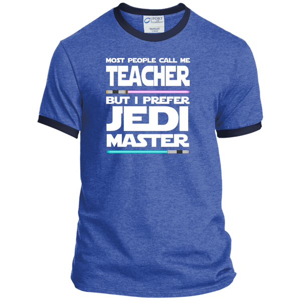Most People Call Me Teacher But I Prefer Jedi Master Ringer Tee - TeachersLoungeShop - 6