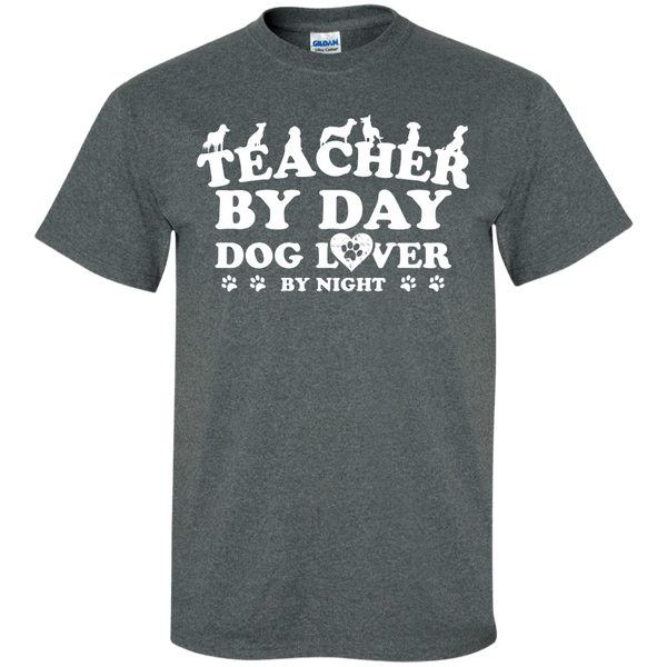Teacher By Day Dog Lover by Night T-Shirt - TeachersLoungeShop - 10