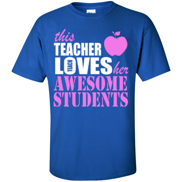 This Teacher Loves her Awesome Students T-shirt Hoodies - TeachersLoungeShop - 5